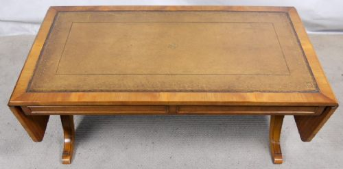 Antique Regency Style Dropleaf Sofa Coffee Table by Reprodux - SOLD